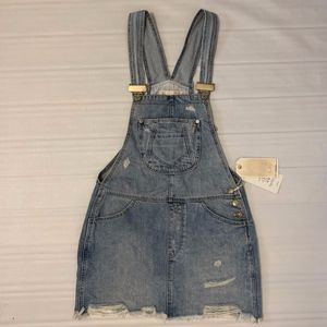 ZARA Blue Denim Short Jumpsuit 100% Cotton